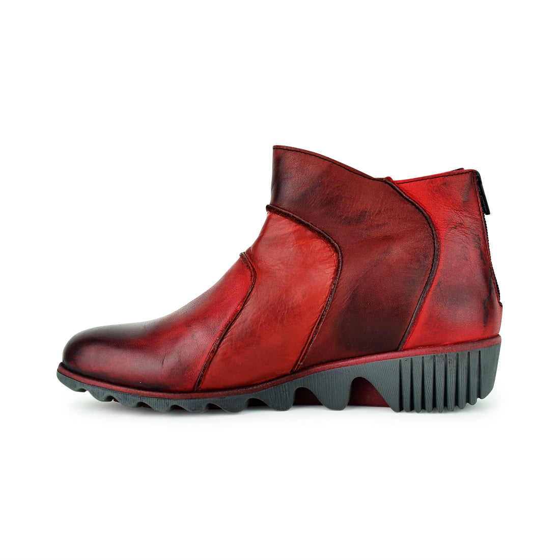 ABILENA - Clamp Ankle Boots Red