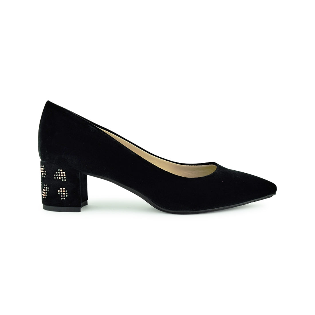 ADAH - Martini Osvaldo Court Shoe Black Velvet