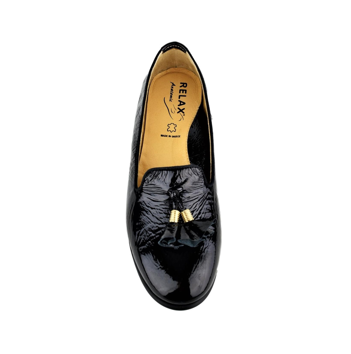 ANGE2 - Relax Closed Shoe Black Patent
