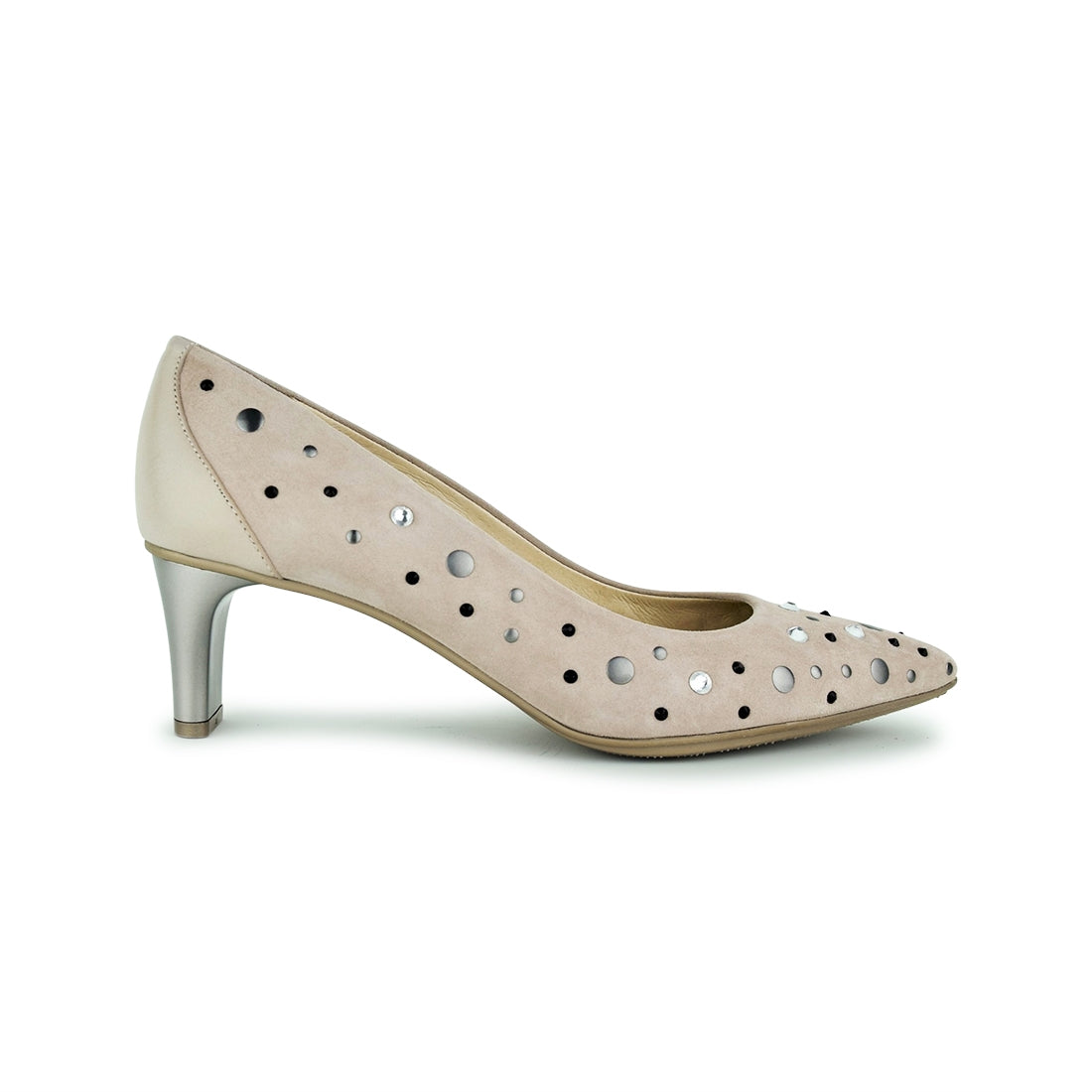 LANDA - Hispanitas Court Shoe Taupe Suede