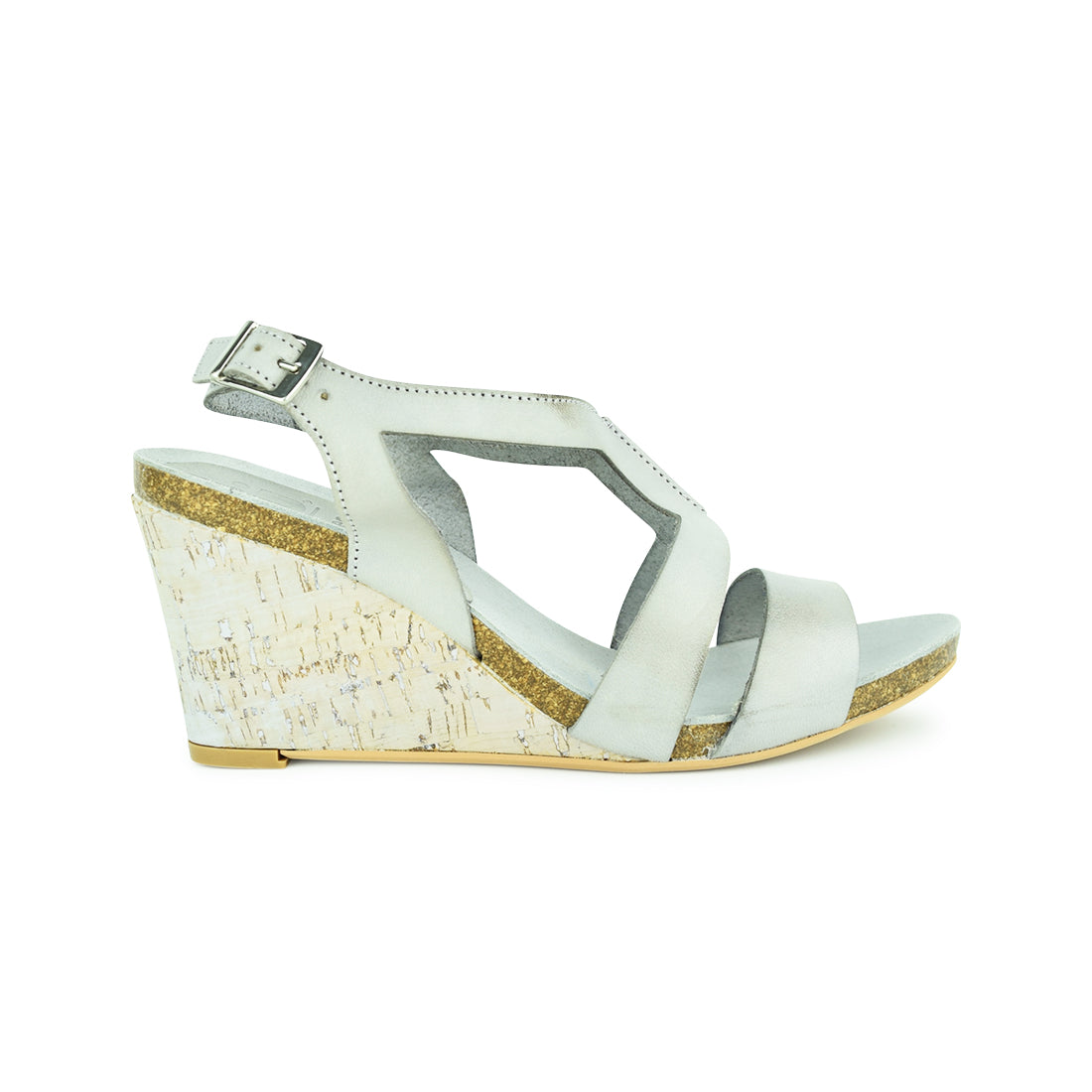 ARLO - Nu by Neo Wedge Sandal Grey