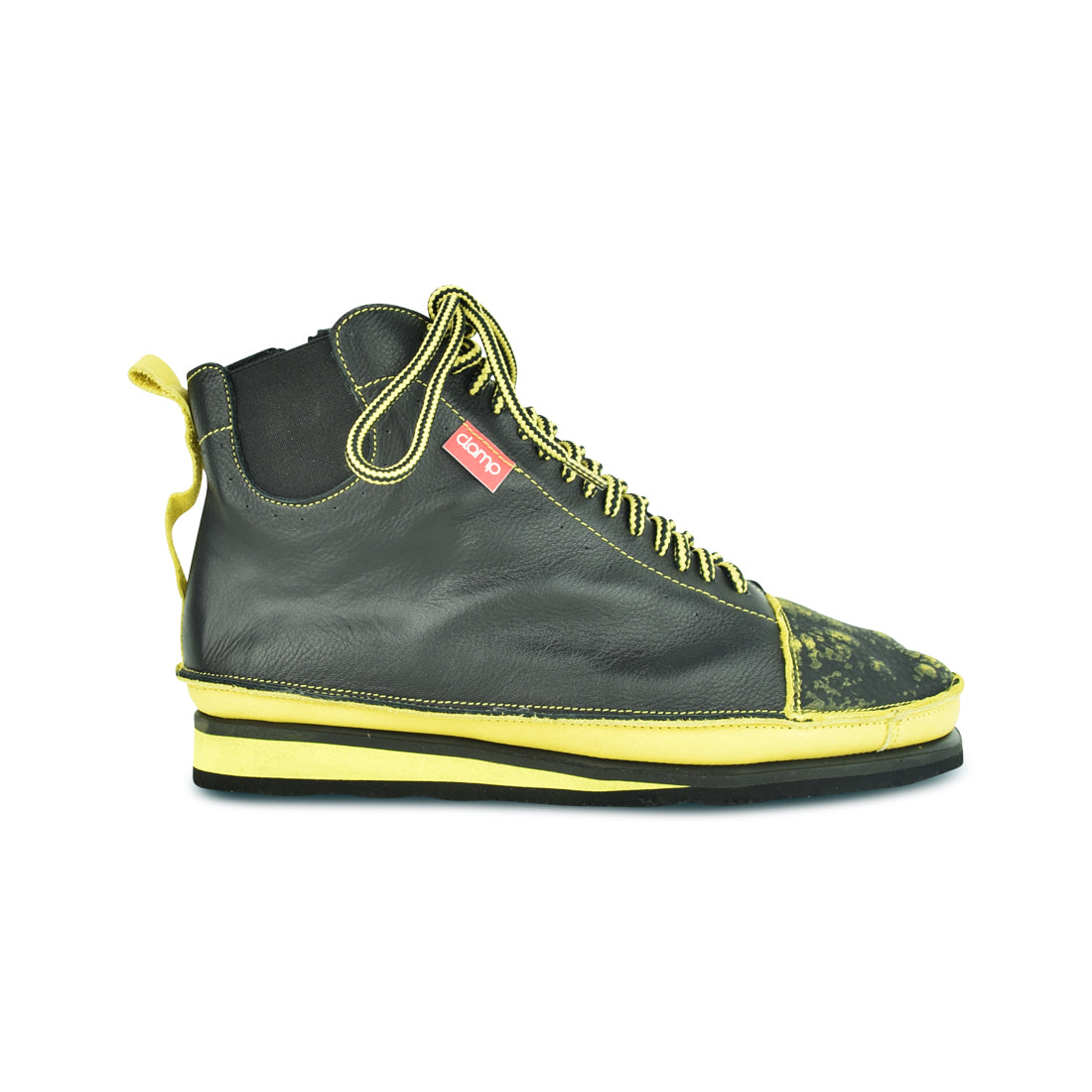 BONNAIR - Clamp Lace Up Black/Yellow