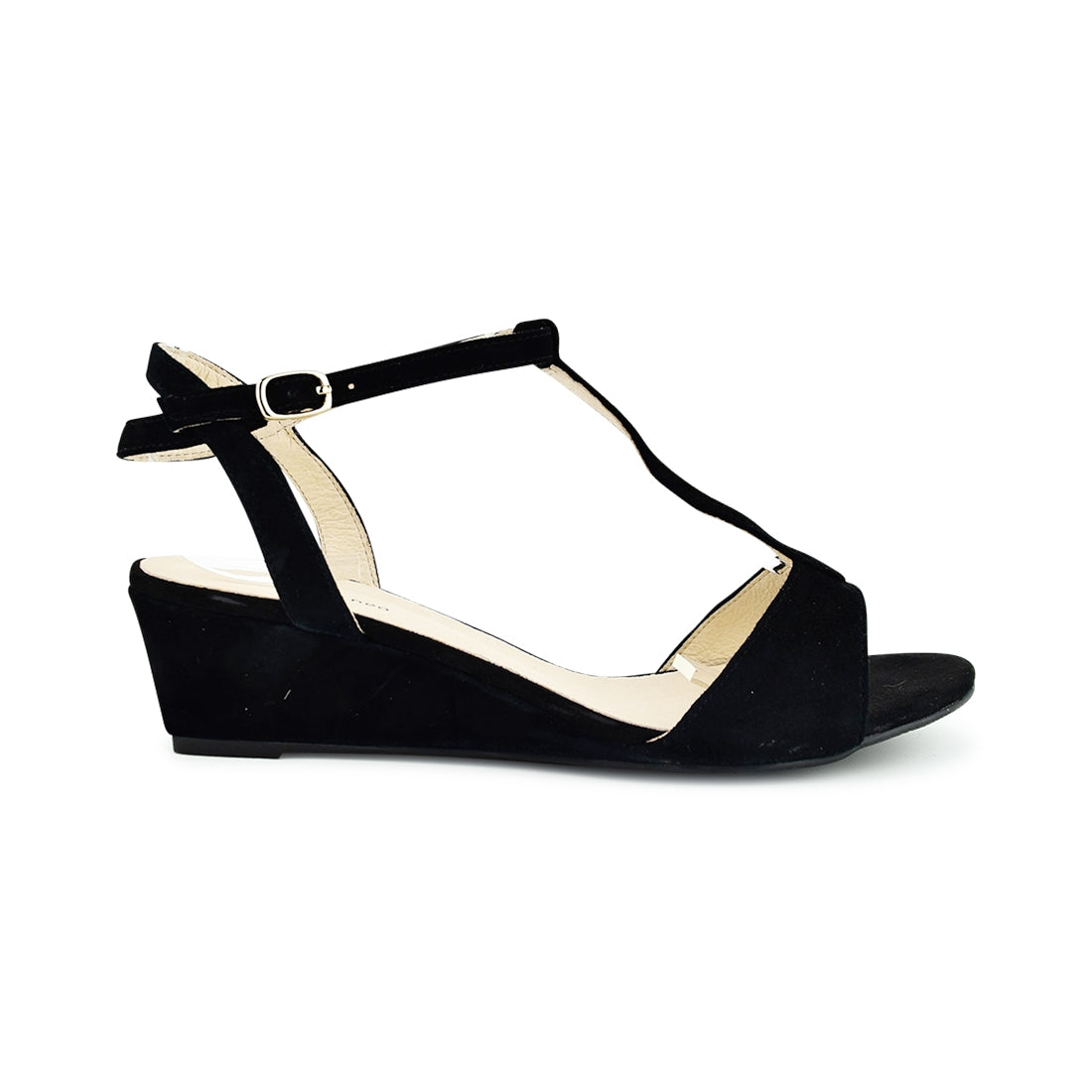 BENITA - Nu by Neo Wedge Sandal Black Suede