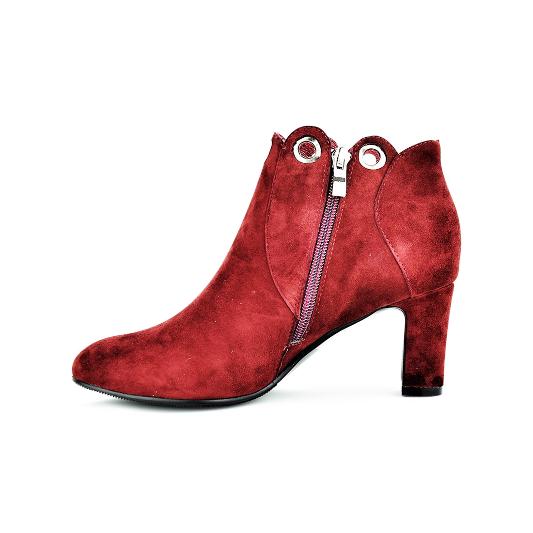BLAIN - Warwick Dawson Ankle Boots Red Suede