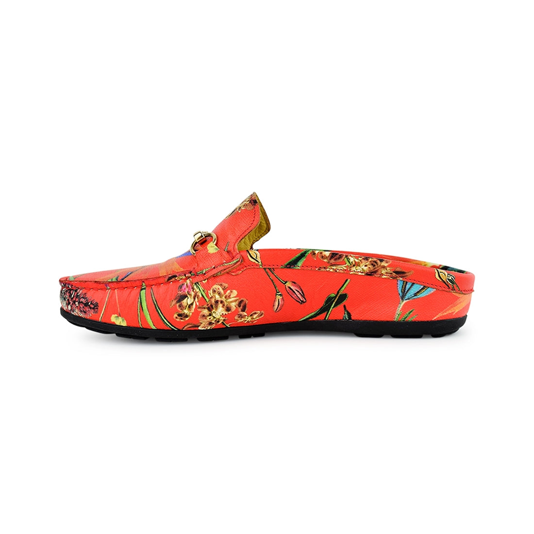 CARIN - Claris Open Backed Loafer Red Print