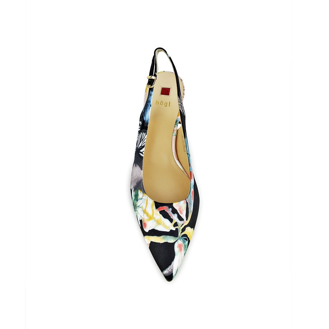 CAROLINA - Hogl Sling Back Black Floral