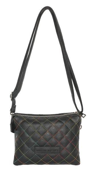 CW2015 - Cosgrove & Beasley Cross Body Bag Black Quilted