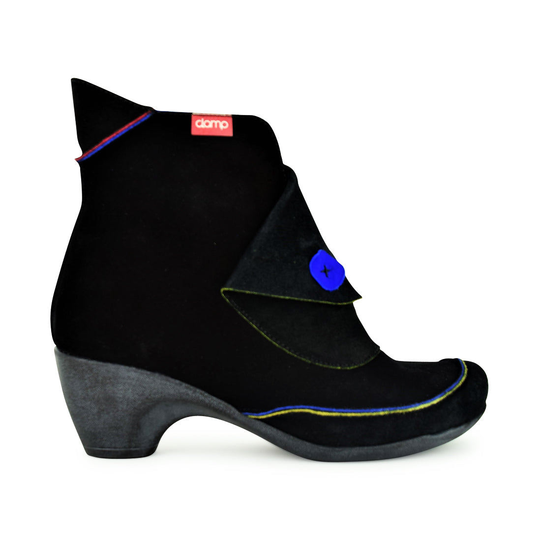 DANA - Clamp Ankle Boots Black Suede Multi