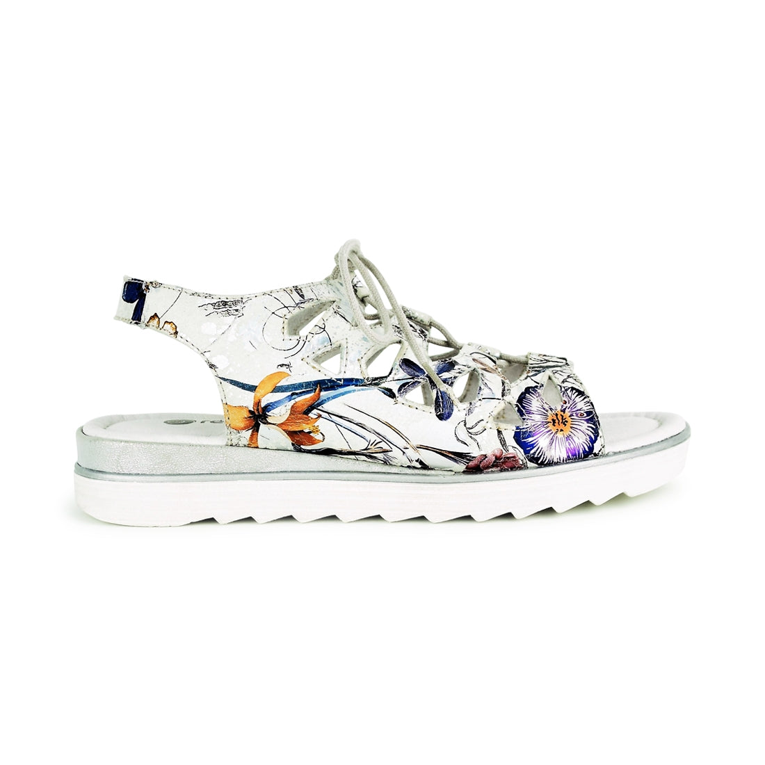 ENRICA - Remonte Lace Up Sandal White Multi