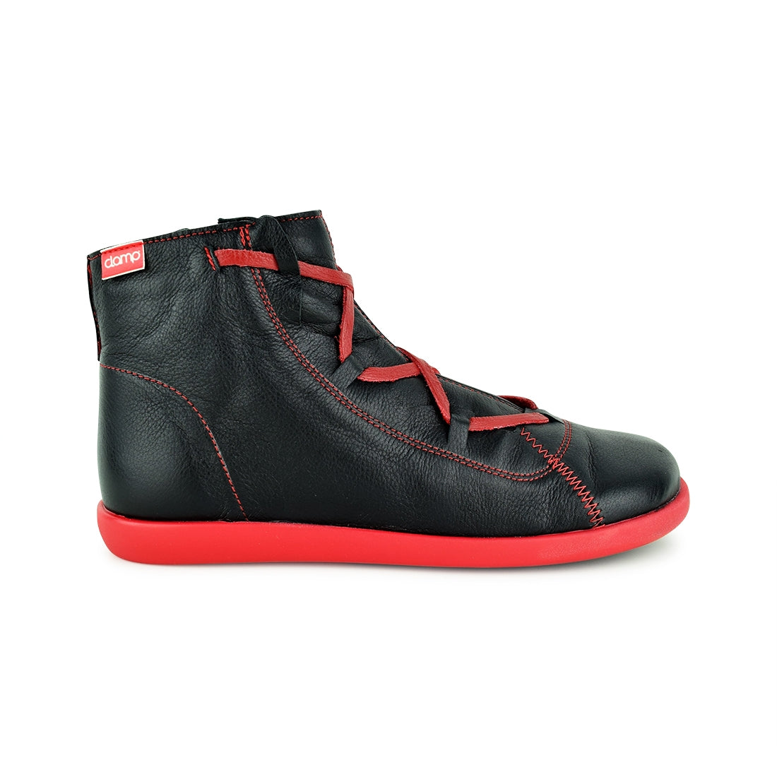 ESTEVAN - Clamp Lace Up Black/Red