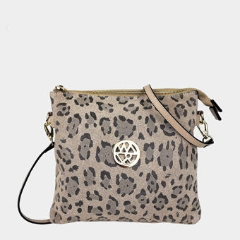 JACQUIB - Willow & Zac Cross Body Bag Nude Leopard