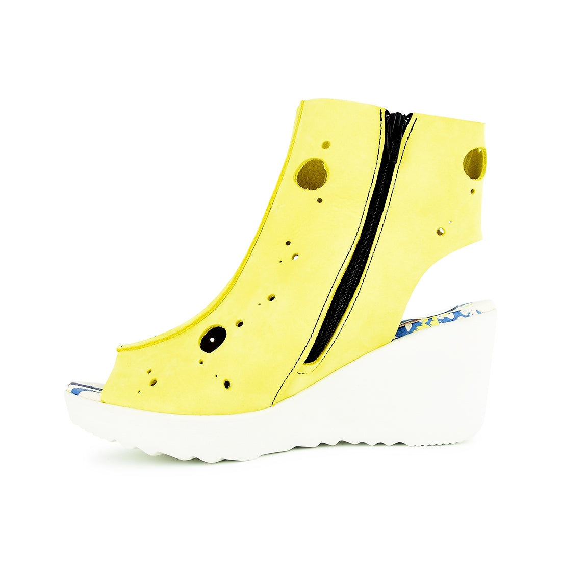 KARTY - Clamp Wedge Sandal Yellow Nubuck