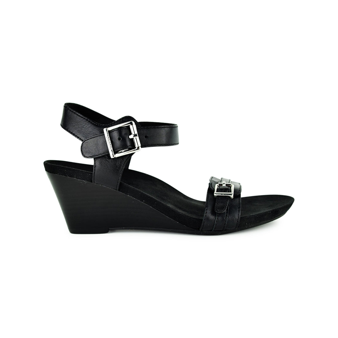 LAURIE - Vionic Wedge Sandal Black