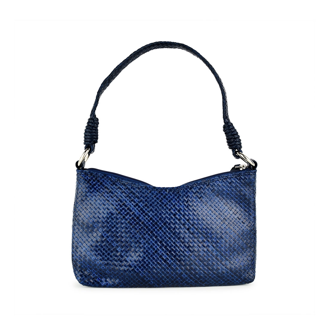 LG108K - Sasha Weave Shoulder Bag Enzyme Blue