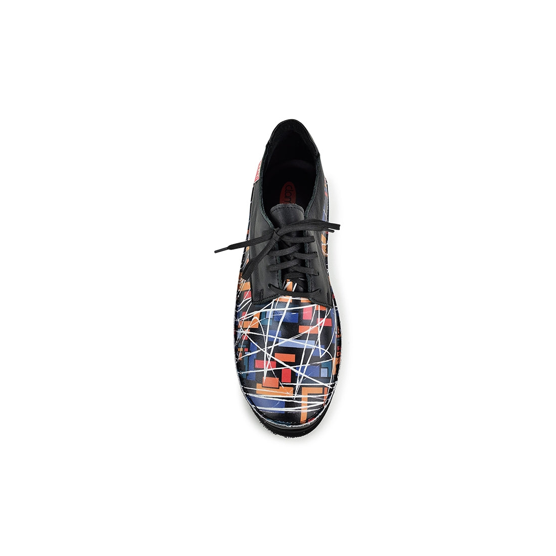 MILAN4 - Clamp Lace Up Black Print