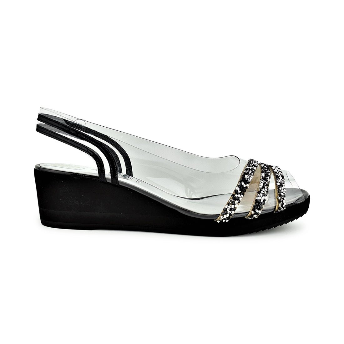 NAPOLI - Azuree Wedge Sling Back Black Multi