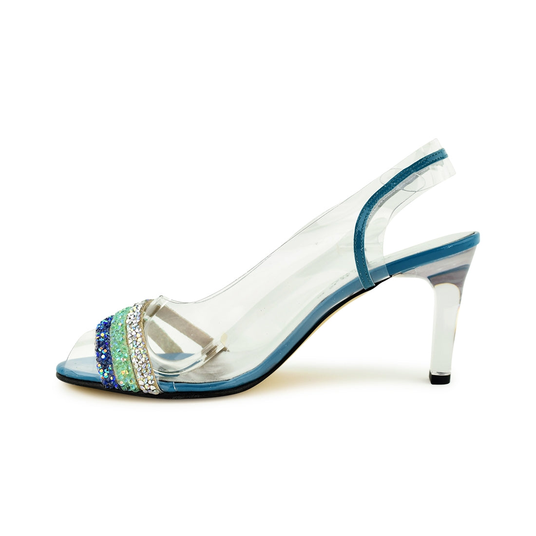 NAPOLIA - Azuree Sling Back Aqua Multi