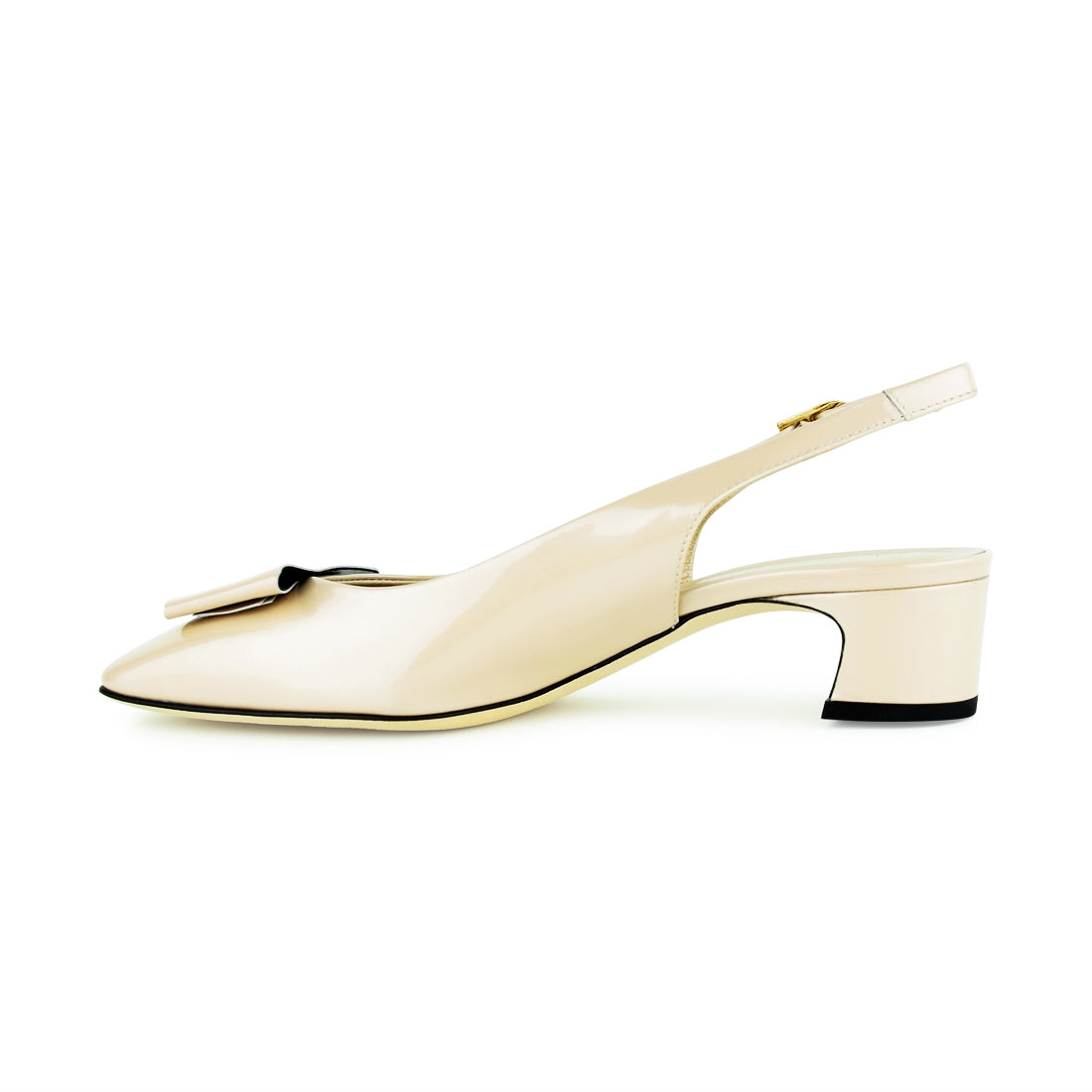 NICE - Amber Rossi Sling Back Nude Patent