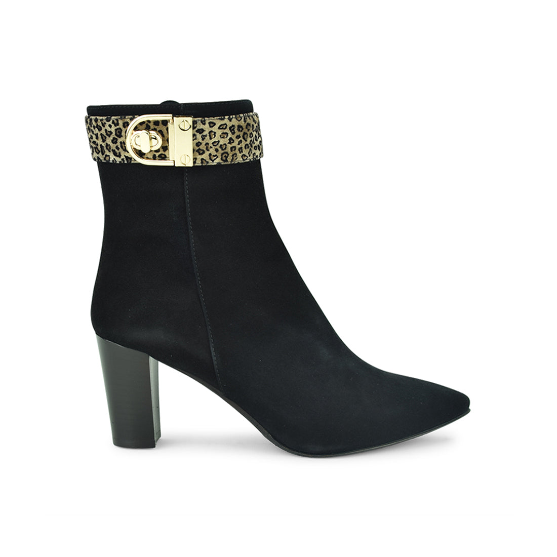 NICOLO - Amber Rossi Ankle Boot Black Suede