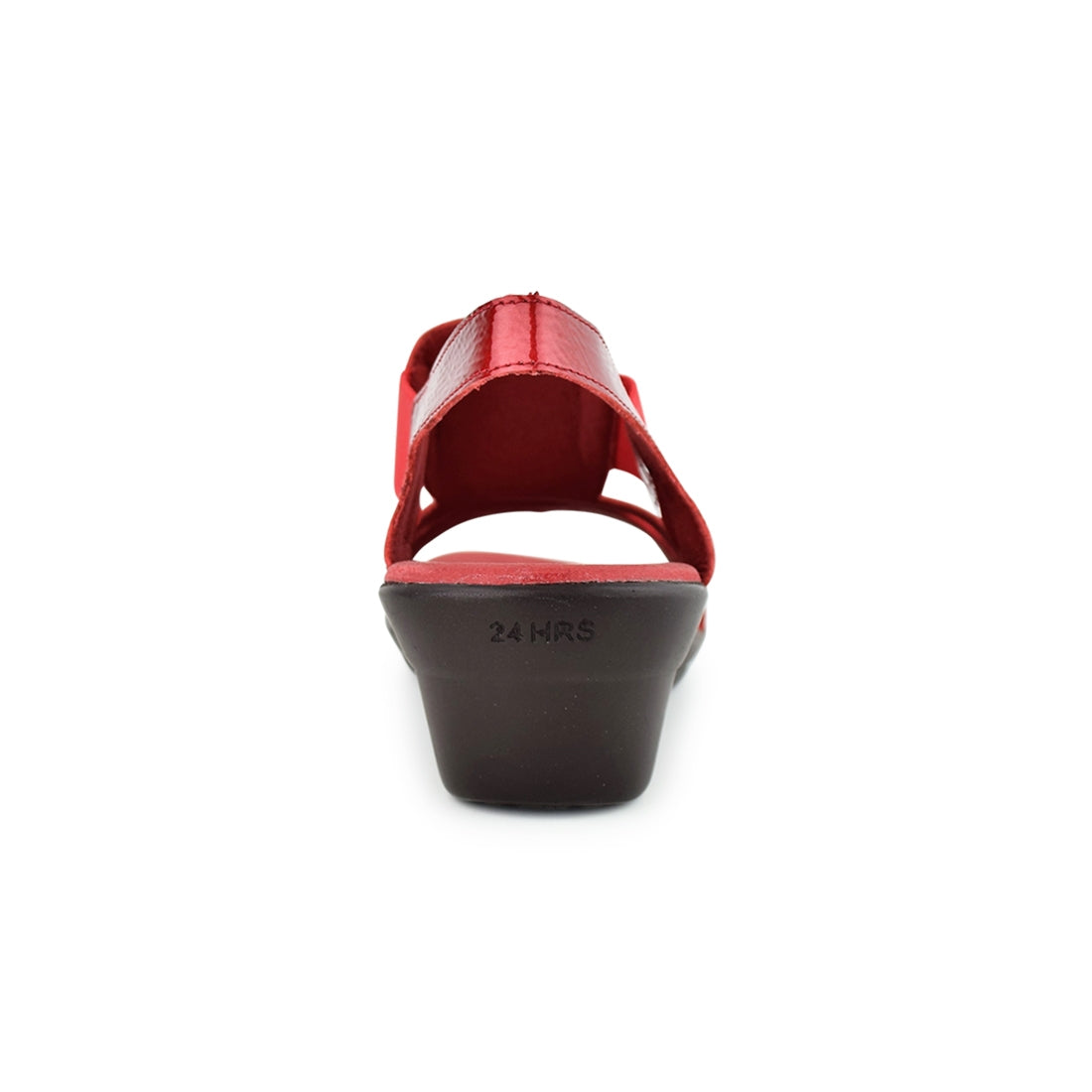 PALAK - 24Hours Wedge Sandal Red Patent