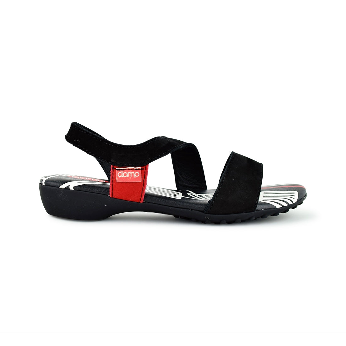 PIM4 - Clamp Sandal Black/Red
