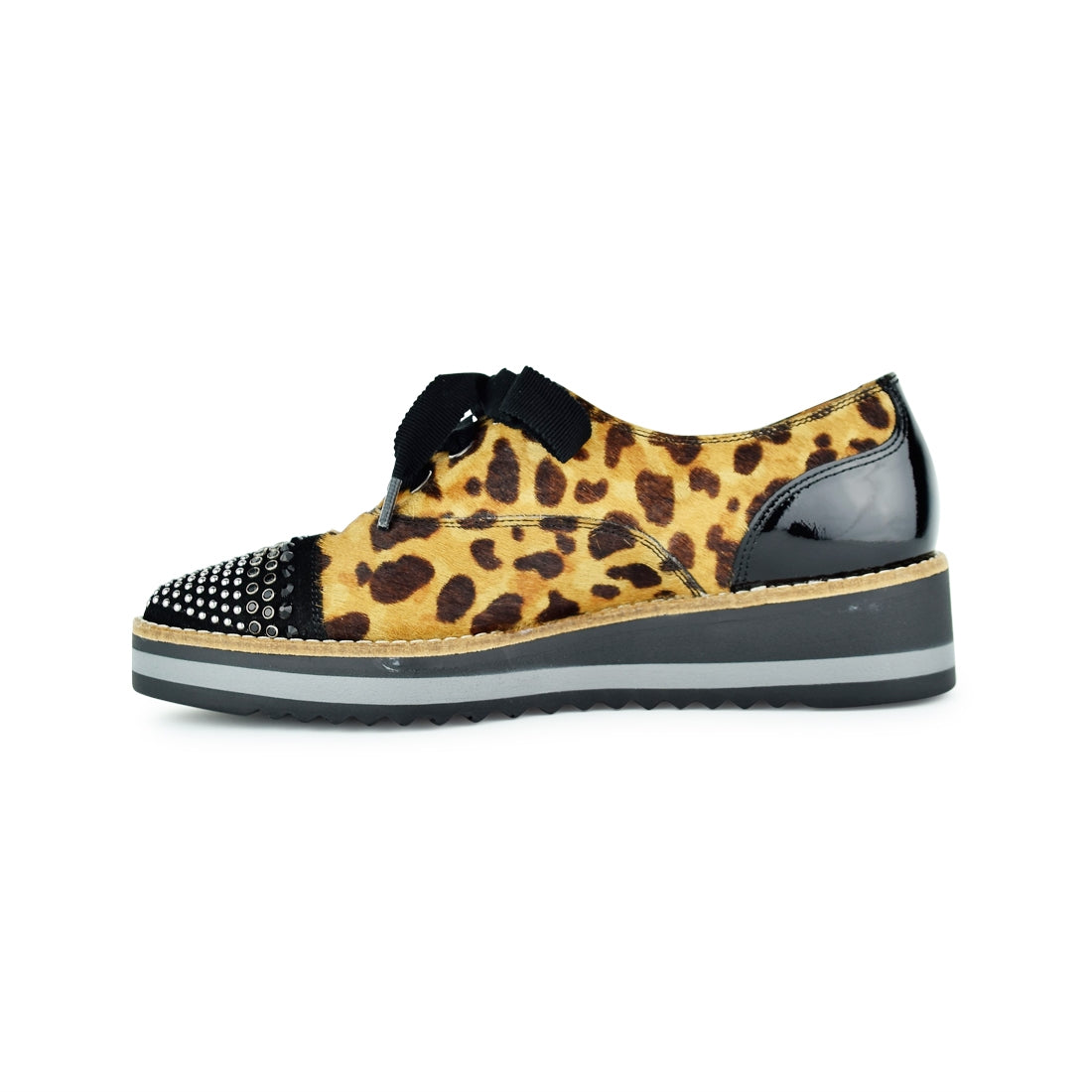 RAYO - Dansi Lace Up Leopard Print