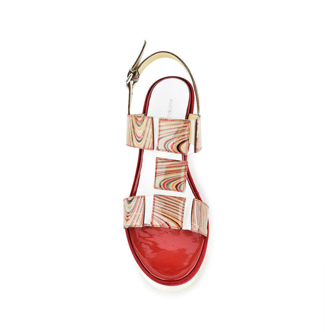 ROSARIA - Martini Osvaldo Wedge Sandal Red Multi