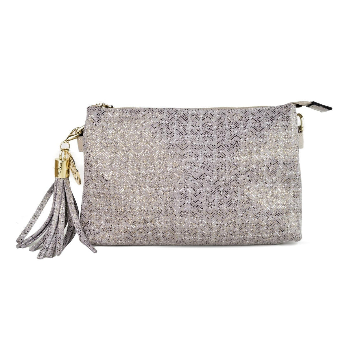 RUBYE - Willow & Zac Clutch Grey Chevron
