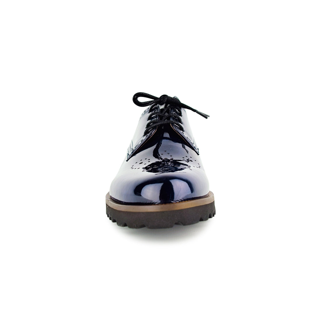 SATEL - Gabor Lace Up Navy Patent