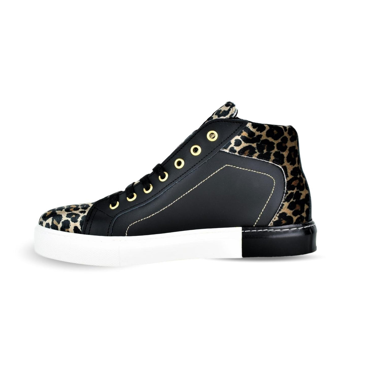 TERINO - NU2 Lace Up Ankle Boots Black Leopard