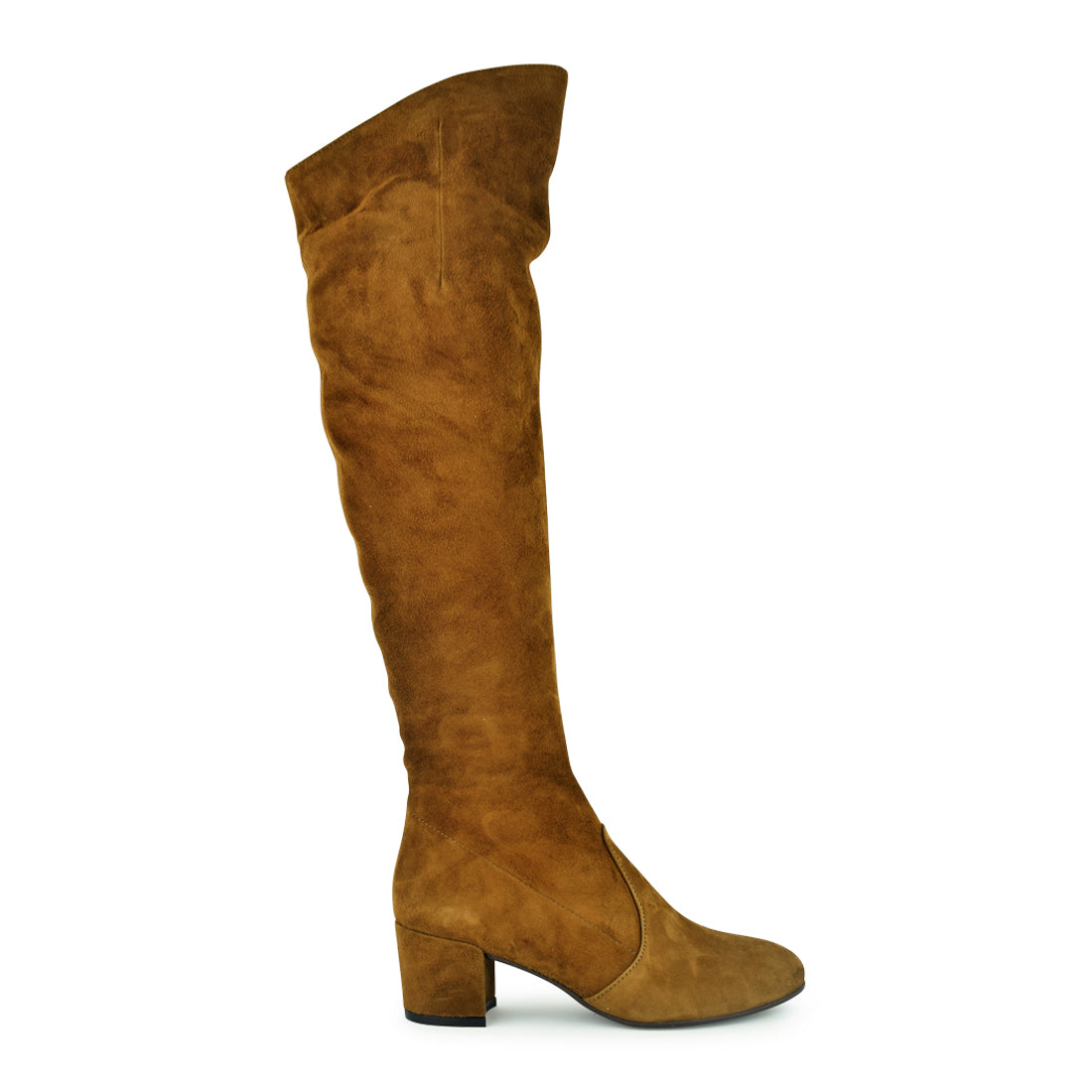 VALENTINA - Neo Over Knee Boot Tan Suede