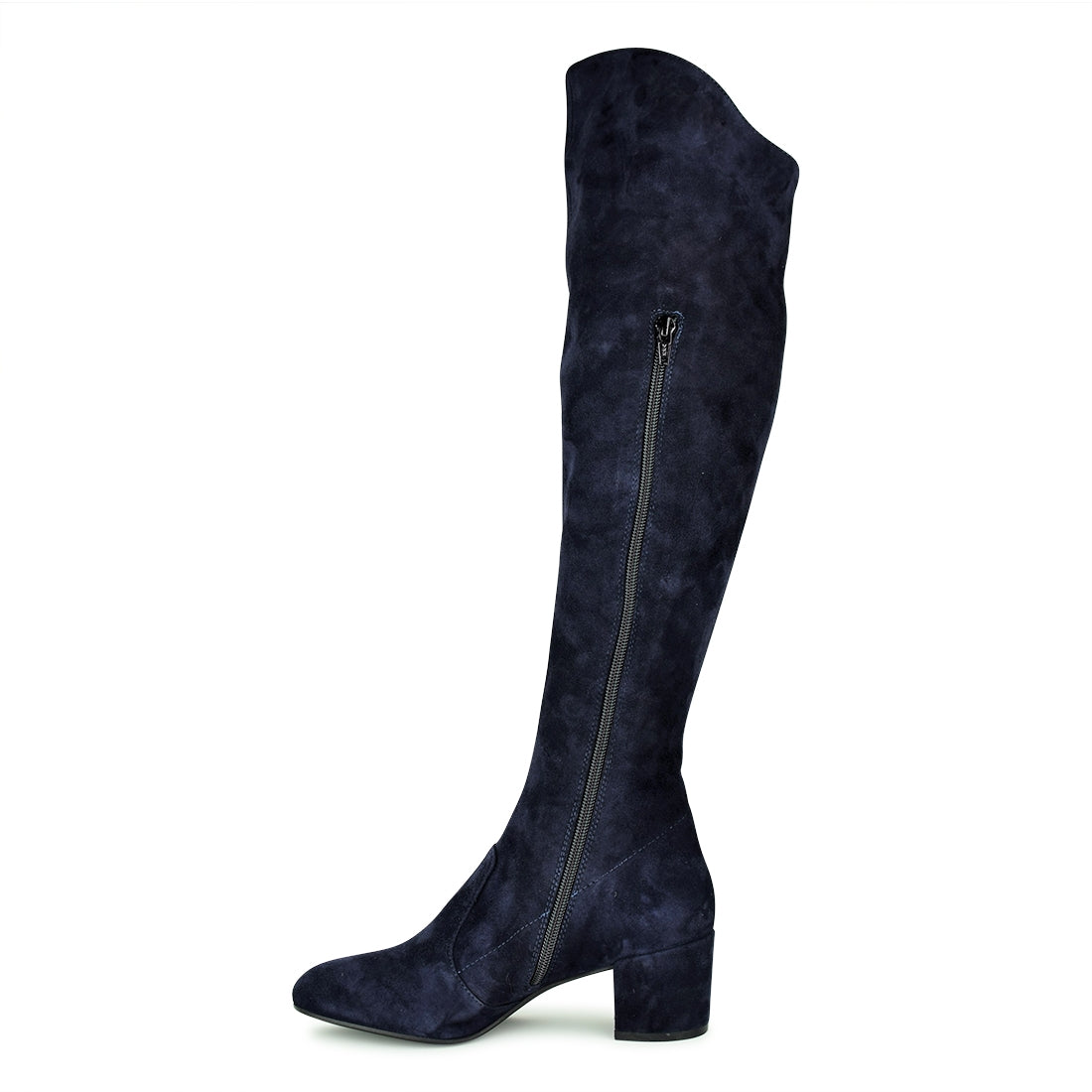 VALENTINA2 - Neo Long Over Knee Boots Navy Suede