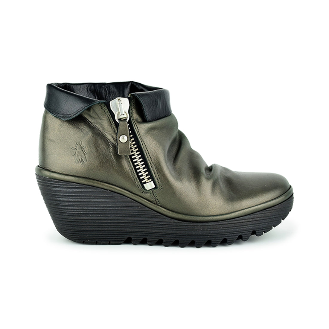 YOXI - Fly London Ankle Boots Dark Grey