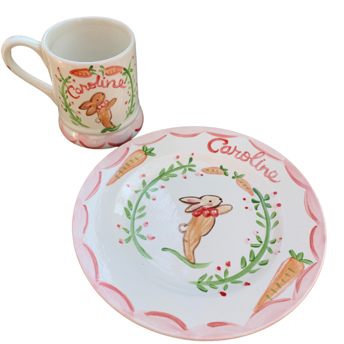 Child's Bunny Cup and Plate Set