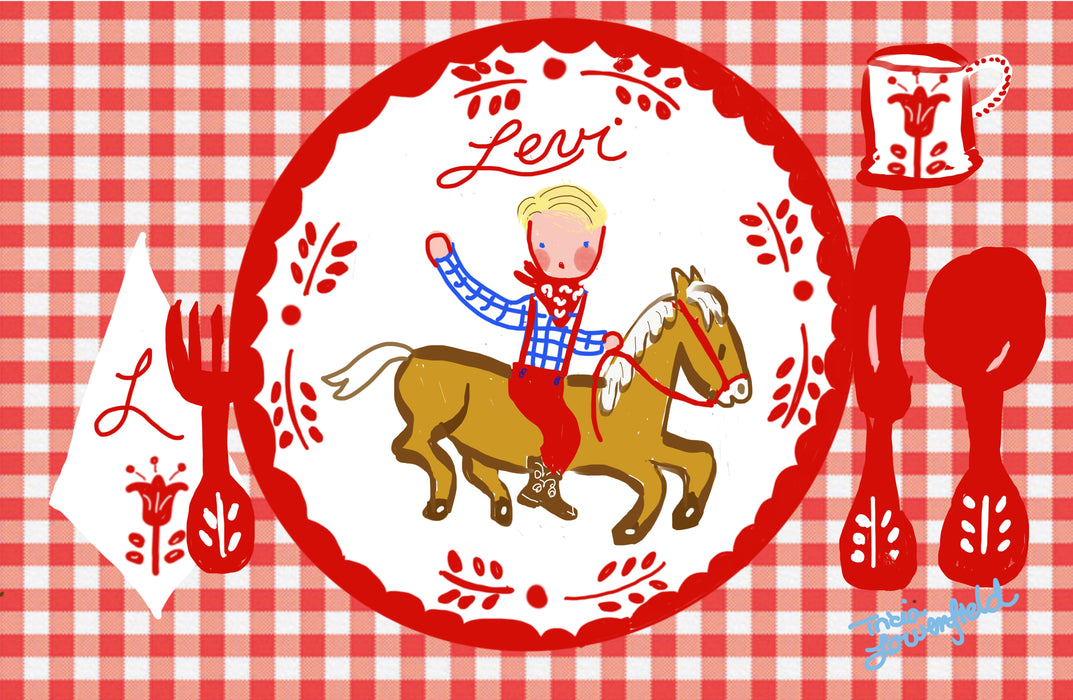Laminated Placemat - Cowboy on Horse
