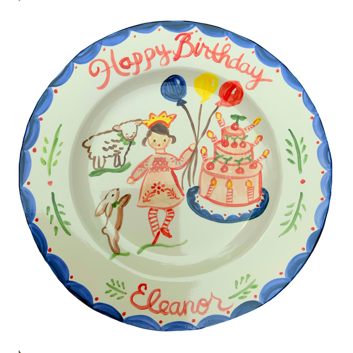Birthday Plate- Full Color Cake/Animals