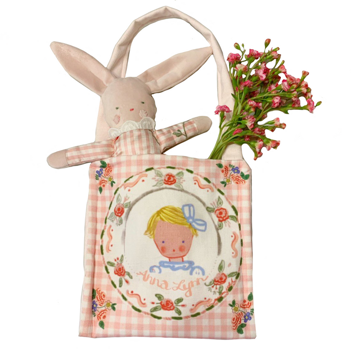Personalized Pink Gingham Bag