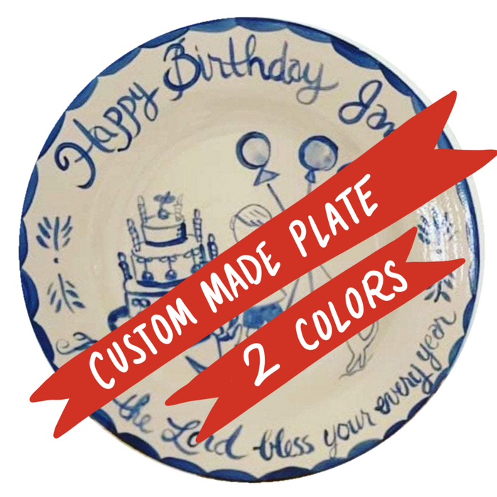 Custom-Made Plate (2 colors)