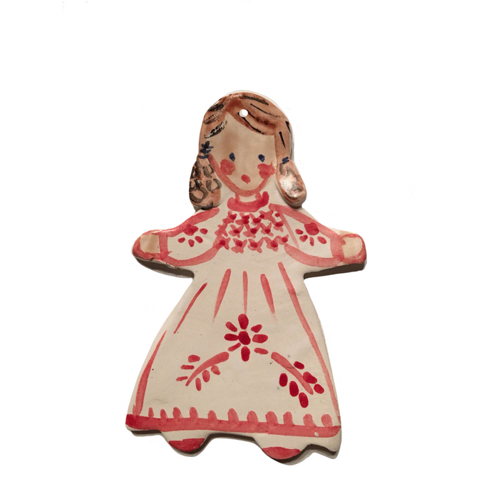 Christmas Ornament - Red Dress Girl