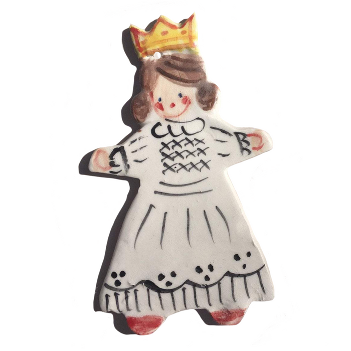 Girl with Crown Ornament