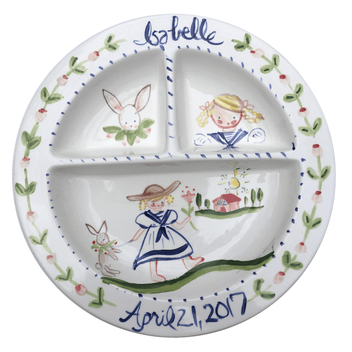 Baby Divided Bowl - Sailor Girl and Bunny