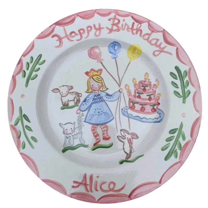 Birthday Plate - Party with Striped Stockings