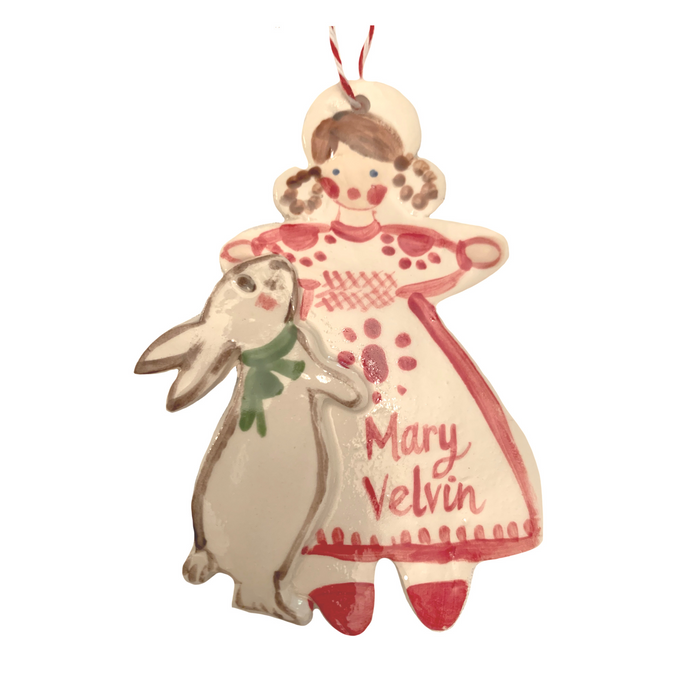Girl with Bunny ornament