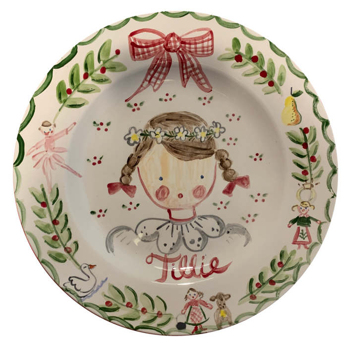 Tricia Lowenfield Design X The Loveliest Home - 12 Days of Christmas Plate - Girl