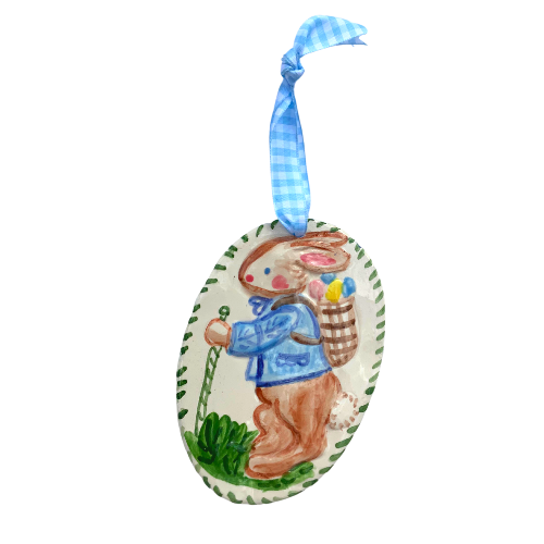 Easter Ornament- Bunny with Basket