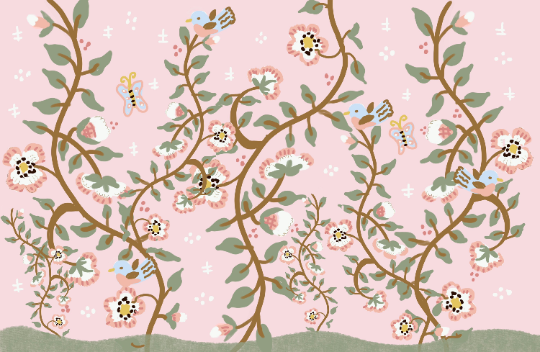 Laminated Placemat - Pink and Sage Floral
