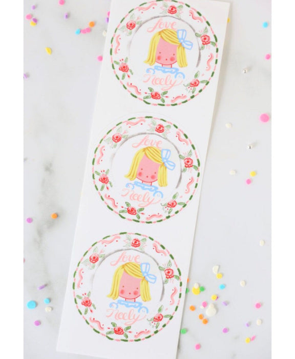 Multiple Children Sticker Gift Tags - Roses