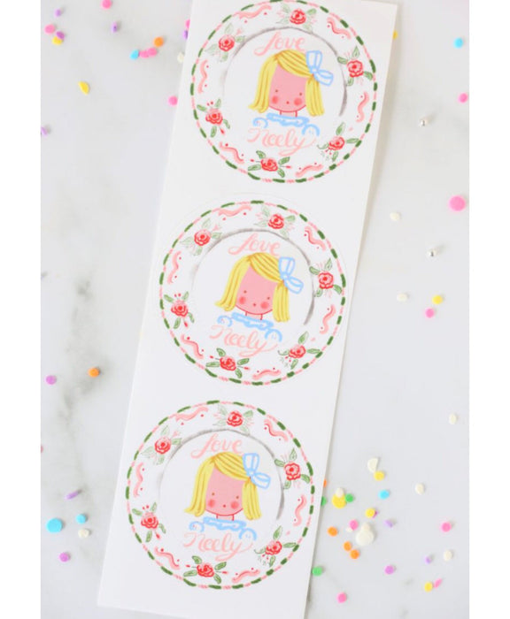 Multiple Children Sticker Gift Tags - Bunnies