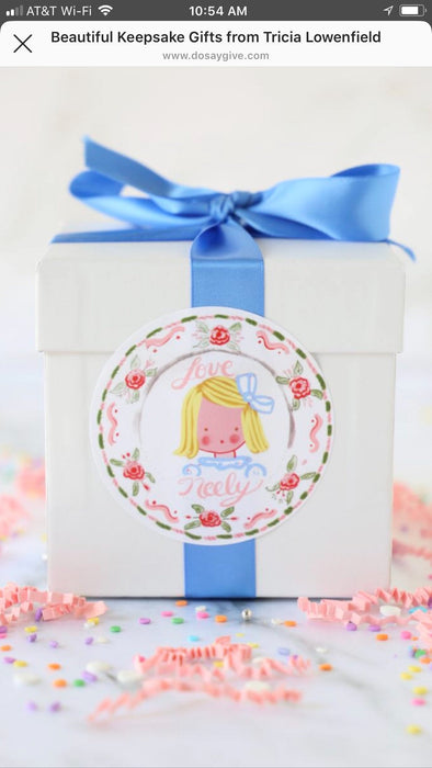 Sticker Gift Tags - Heart Crown Girl