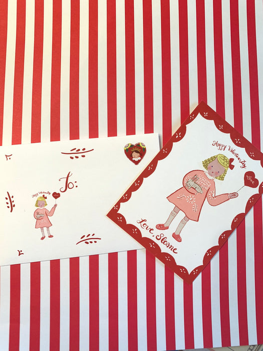 Valentine Cards- Boy with Red Shorts